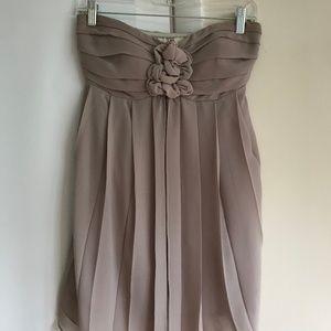 Gray Chiffon Cocktail Mini Dress